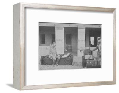 'Major Battersby and his Orderly taking a Radiograph in the Soudan', c1890, (1910)-Unknown-Framed Photographic Print