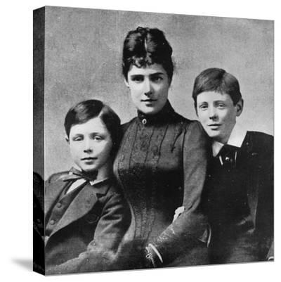 'But at least happiness could be found at home with mother and brother John', 1889, (1945)-Unknown-Stretched Canvas Print