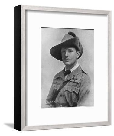 Winston Churchill during his time as war correspodant, c1899, (1945)-Unknown-Framed Photographic Print