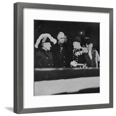'Mr. Churchill at St. James's Palace for a meeting of Privy Councillors', 1936, (1945)-Unknown-Framed Photographic Print