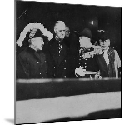 'Mr. Churchill at St. James's Palace for a meeting of Privy Councillors', 1936, (1945)-Unknown-Mounted Photographic Print