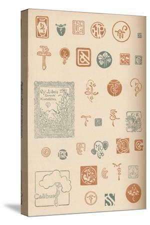 'Monograms and Marks', c1890, (1905)-Unknown-Stretched Canvas Print