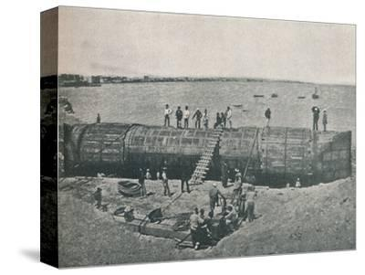 'Preparing to Launch', 1877, (1910)-Unknown-Stretched Canvas Print