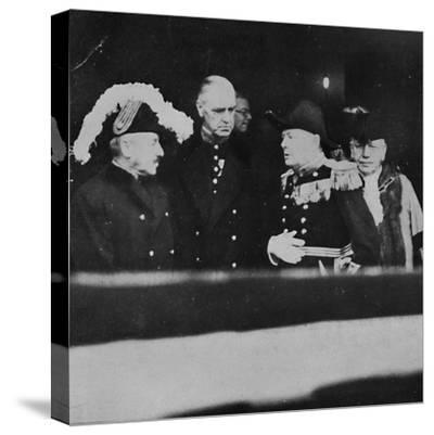 'Mr. Churchill at St. James's Palace for a meeting of Privy Councillors', 1936, (1945)-Unknown-Stretched Canvas Print
