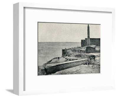 'The Needle lying as it fell at Alexandria', 1877, (1910)-Unknown-Framed Photographic Print