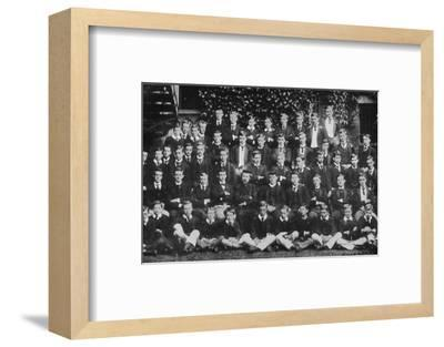 Winston Churchill in a group photograph at Harrow School, c1889, (1945)-Unknown-Framed Photographic Print