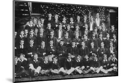 Winston Churchill in a group photograph at Harrow School, c1889, (1945)-Unknown-Mounted Photographic Print