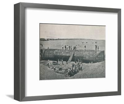 'Preparing to Launch', 1877, (1910)-Unknown-Framed Photographic Print