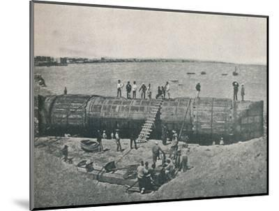'Preparing to Launch', 1877, (1910)-Unknown-Mounted Photographic Print