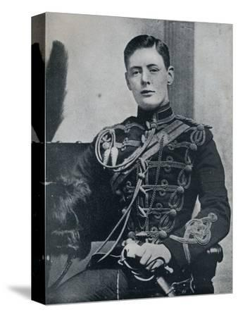 'Soon he was a dashing subaltern in the 4th Hussars', 1895, (1945)-Unknown-Stretched Canvas Print