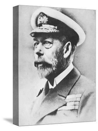 'George V, King of the United Kingdom from 1910', c1936, (1945)-Unknown-Stretched Canvas Print