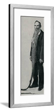 'The Longest Beard on Record', 1896, (1910)-Unknown-Framed Photographic Print