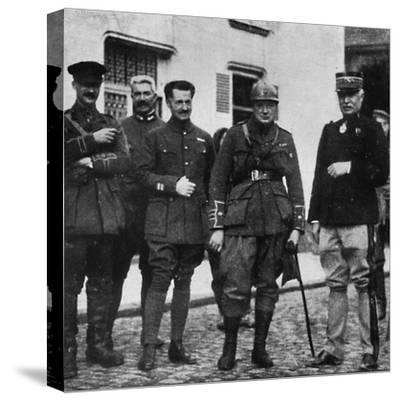 On the front and after experience he commanded 6th Royal Scots Fusiliers, c1916, (1945)-Unknown-Stretched Canvas Print