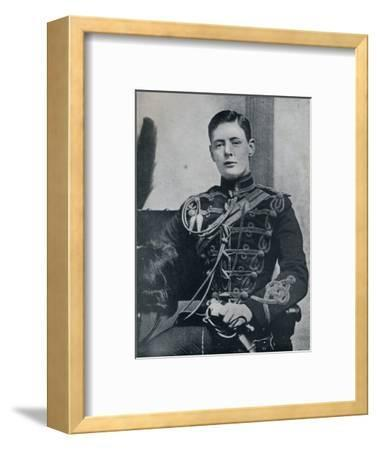'Soon he was a dashing subaltern in the 4th Hussars', 1895, (1945)-Unknown-Framed Photographic Print