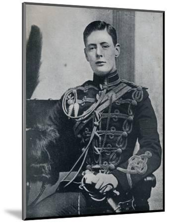 'Soon he was a dashing subaltern in the 4th Hussars', 1895, (1945)-Unknown-Mounted Photographic Print