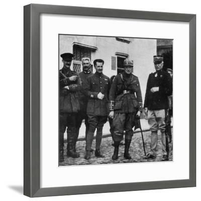 On the front and after experience he commanded 6th Royal Scots Fusiliers, c1916, (1945)-Unknown-Framed Photographic Print