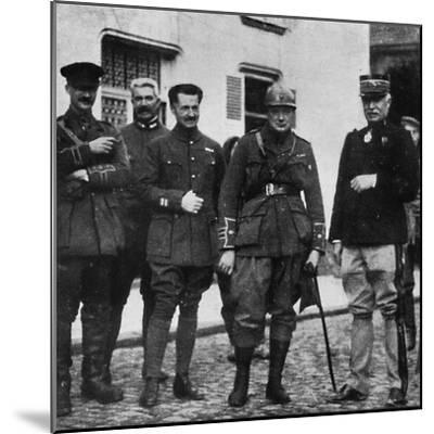 On the front and after experience he commanded 6th Royal Scots Fusiliers, c1916, (1945)-Unknown-Mounted Photographic Print