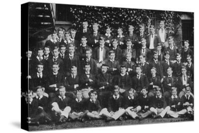 Winston Churchill in a group photograph at Harrow School, c1889, (1945)-Unknown-Stretched Canvas Print