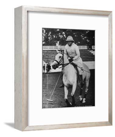 'Despite heavy responsibilities the favourite game of polo could not be neglected', c1930s, (1945)-Unknown-Framed Photographic Print