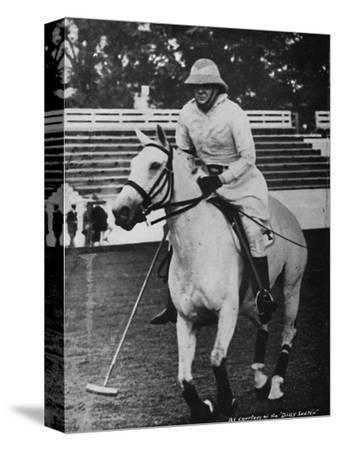 'Despite heavy responsibilities the favourite game of polo could not be neglected', c1930s, (1945)-Unknown-Stretched Canvas Print