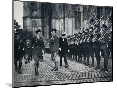 'Inspection of troops at the foot of Cologne Cathedral', 1919, (1945)-Unknown-Mounted Photographic Print