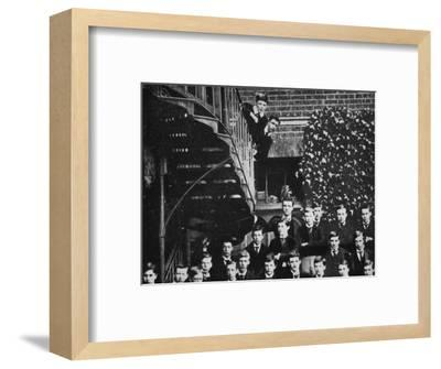 'Winston climbing a staircase, while the class pose', c1889, (1945)-Unknown-Framed Photographic Print