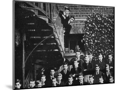 'Winston climbing a staircase, while the class pose', c1889, (1945)-Unknown-Mounted Photographic Print