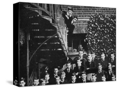 'Winston climbing a staircase, while the class pose', c1889, (1945)-Unknown-Stretched Canvas Print