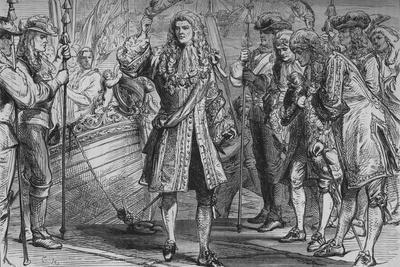 'King James II. Landing at Kinsale', 12 March 1689, (c1880)-Unknown-Framed Giclee Print
