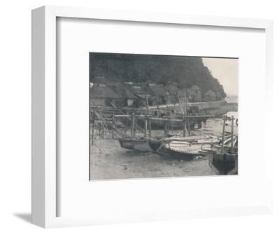 'Tai-no-ura - Tiny houses on a margin of sand with fishing boats', c1900, (1921)-Julian Leonard Street-Framed Photographic Print