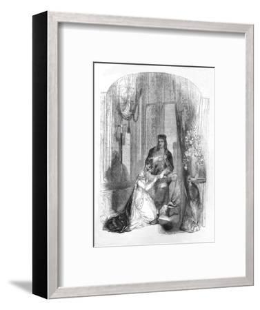 'Edward III. and the Countess of Salisbury', 1845-Unknown-Framed Giclee Print