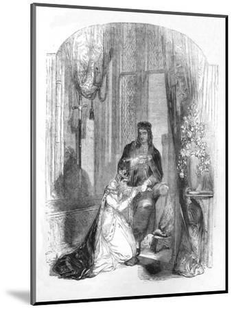 'Edward III. and the Countess of Salisbury', 1845-Unknown-Mounted Giclee Print