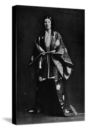Mrs. Charles Burnett in a 15th-Century Japanese Court costume-Julian Leonard Street-Stretched Canvas Print