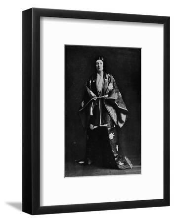 Mrs. Charles Burnett in a 15th-Century Japanese Court costume-Julian Leonard Street-Framed Photographic Print