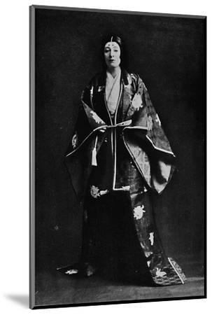 Mrs. Charles Burnett in a 15th-Century Japanese Court costume-Julian Leonard Street-Mounted Photographic Print