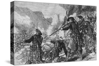 'The Battle of Glenshiel', 10 June 1719, (c1880)-Unknown-Stretched Canvas Print