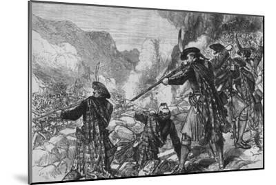 'The Battle of Glenshiel', 10 June 1719, (c1880)-Unknown-Mounted Giclee Print