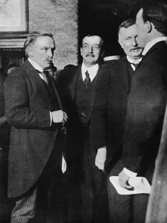 Mr. Lloyd George, Mr. Runciman, and Mr. Henderson at the Park Hotel, Cardiff-Unknown-Framed Photographic Print