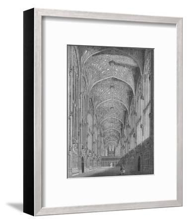 'King's College Chapel', 1845-Unknown-Framed Giclee Print