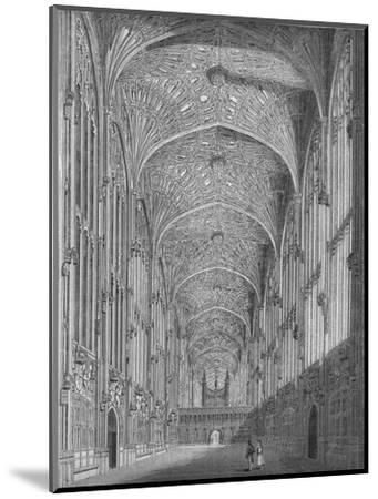 'King's College Chapel', 1845-Unknown-Mounted Giclee Print
