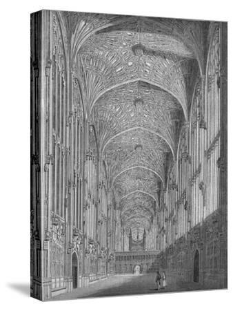 'King's College Chapel', 1845-Unknown-Stretched Canvas Print