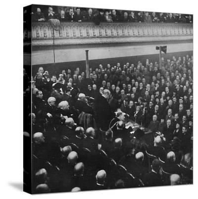'On 27th January, Mr. Churchill addressed an audience in Free Trade Hall, Manchester', 1913, (1945)-Unknown-Stretched Canvas Print