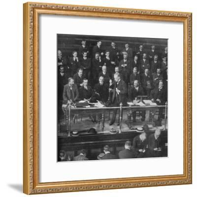 'The Coal Strike: Mr. Lloyd George addressing the miners' representatives at Cardiff', 1915-Unknown-Framed Photographic Print