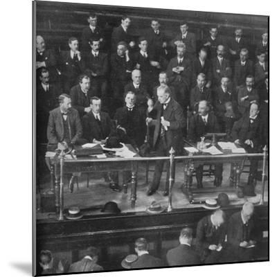 'The Coal Strike: Mr. Lloyd George addressing the miners' representatives at Cardiff', 1915-Unknown-Mounted Photographic Print