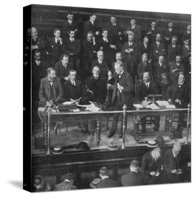 'The Coal Strike: Mr. Lloyd George addressing the miners' representatives at Cardiff', 1915-Unknown-Stretched Canvas Print