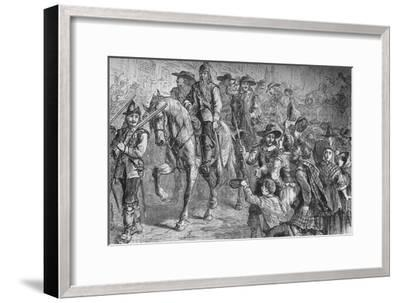 'General Dalzell Entering Edinburgh', July 1666, (c1880)-Unknown-Framed Giclee Print