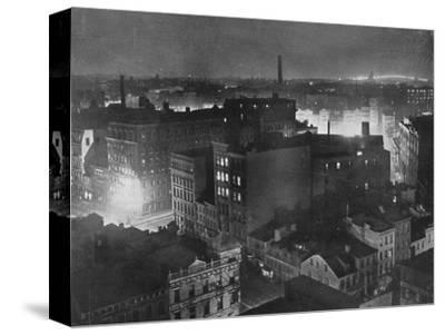 'A view of New York at night', 1915-Unknown-Stretched Canvas Print