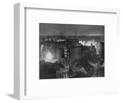 'A view of New York at night', 1915-Unknown-Framed Photographic Print