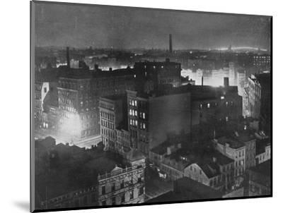 'A view of New York at night', 1915-Unknown-Mounted Photographic Print