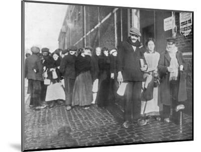 'Waiting for relief rations at Bruges', 1915-Unknown-Mounted Photographic Print
